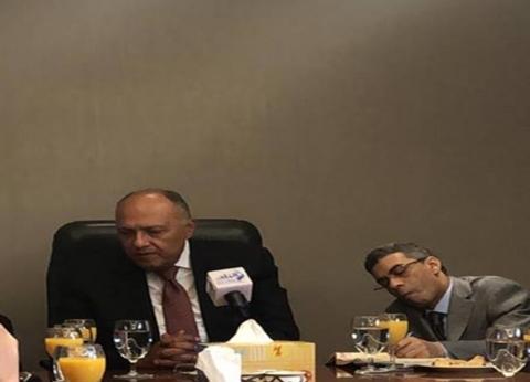 شكري: الرئيس سيعقد لقاءات مع ممثلي شركات كبرى مهتمة بالسوق المصرية