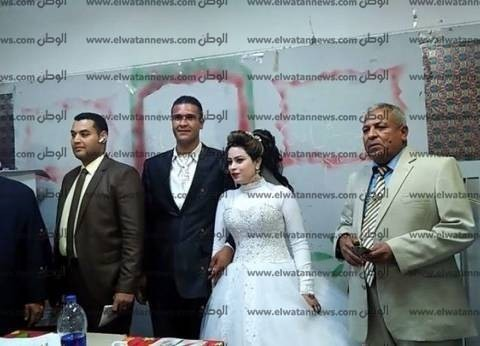 عروسان من أسيوط يصوتان في الانتخابات الرئاسية