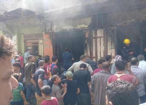 إخماد حريق حظيرة ماشية بالشهداء في المنوفية