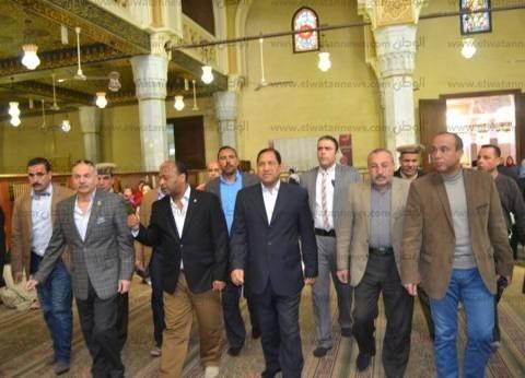 بالصور| قيادات الغربية تتفقد أعمال تطوير المسجد الأحمدي بطنطا
