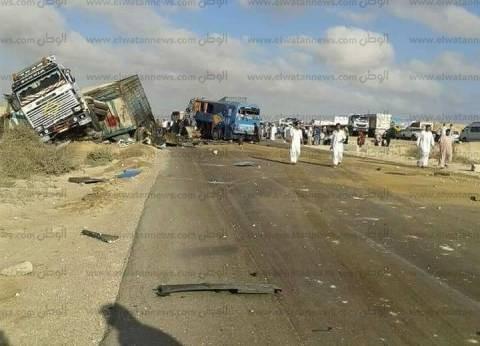 """إصابة 5 أشخاص في حادث تصادم بطريق """"بلبيس - أبو حماد"""""""
