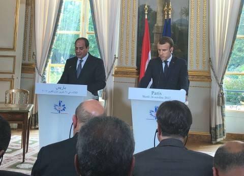 """""""الرئاسة"""": """"ماكرون"""" تفهّم الظروف التي تمر بها مصر"""