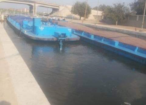 """""""النقل"""": مرور 5 وحدات نهرية بحمولة 1433 طنا عبر """"فم النوبارية"""""""