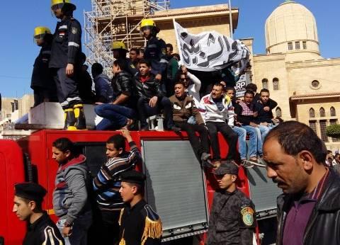 """تشييع جثمان """"الشربيني"""" شهيد كمين الصفا في جنازة عسكرية ببورسعيد"""