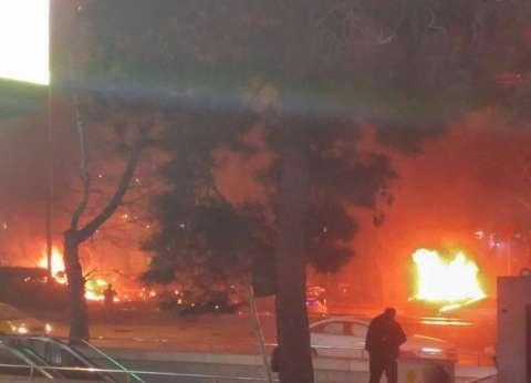 بالفيديو| لحظة انفجار السيارة الملغومة في العاصمة التركية