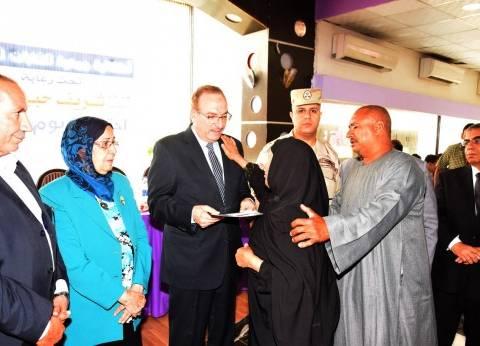 تكريم 141 من أسر الشهداء والأيتام باحتفالية الشابات المسلمات ببني سويف