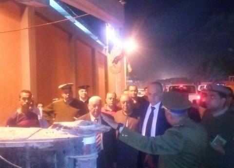 محافظ القليوبية ينتقل إلى موقع حادث قطار قليوب
