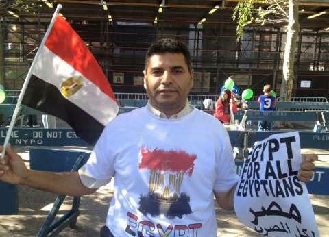 بالصور| الجالية المصرية في نيويورك تستعد لاستقبال الرئيس السيسي