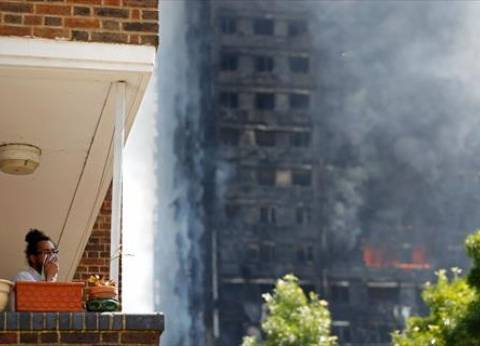 حريق بمعرض موببليات مكون من 5 طوابق في سوهاج