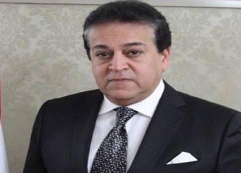 وزير التعليم العالي: يحق للجامعات المصرية إنشاء فروع لها