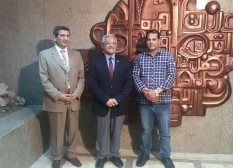 افتتاح مدخل الإدارة المركزية بجامعة المنيا
