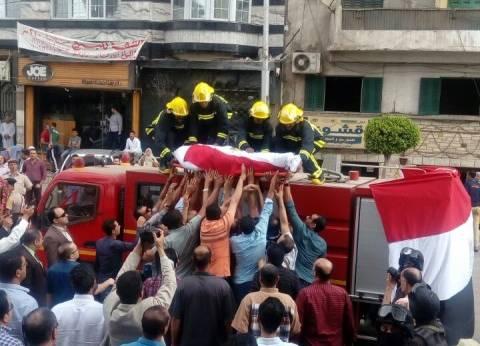 تشييع جثمان المقدم الشهيد أحمد عثمان في جنازة عسكرية بالمنصورة