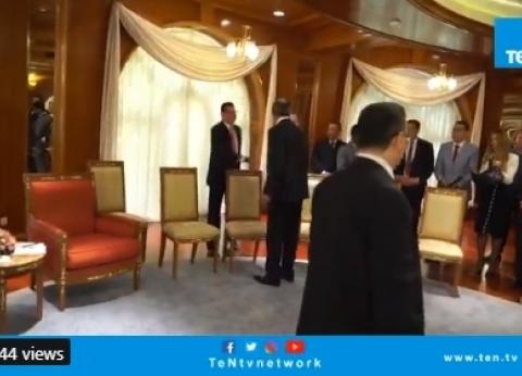 """عمرو عبدالحميد يتبادل الحديث مع """"لافروف"""" قبل القمة المصرية- الروسية"""