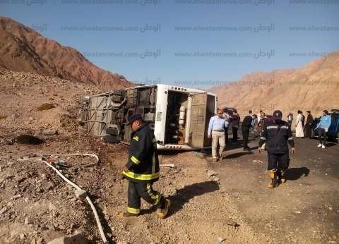 محافظ جنوب سيناء يقرر حجز فنادق لمصابي حادث الحافلة السياحية
