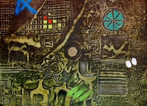 """الحضارة السومرية والبابلية في معرض فنان عراقي بـ""""الأوبرا"""""""