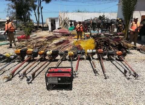 بالصور  محافظ كفر الشيخ يتابع حملة إزالة التعديات على بحيرة البرلس