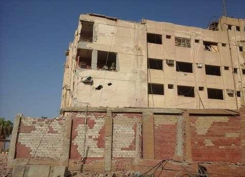 إزالة 100 طن من انقاض موقع انفجار مبنى الأمن الوطني بشبرا الخيمة