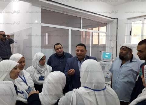 """وكيل """"صحة كفر الشيخ"""" يفتتح التشغيل التجريبي لبنك الدم"""