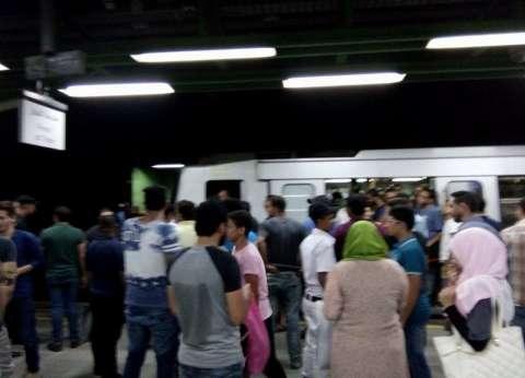 توقف «حركة القطارات» في مترو «الخط الثاني» نصف ساعة