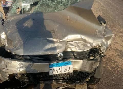 إصابة مجند بموكب محافظ السويس في حادث انقلاب سيارة