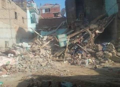 انهيار جزء من عقار بمنطقة الفجالة.. والحماية المدنية تنقذ سكانه
