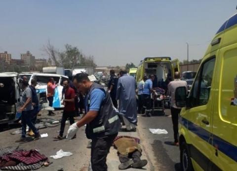 """""""الصحة"""": وفاة 14 مواطنا وإصابة 10 في حادث تصادم على طريق الأتوستراد"""