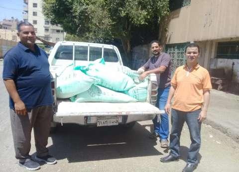 ضبط سيارة محملة بدقيق مخابز بلدية مدعم لبيعها بالسوق السوداء في المنيا