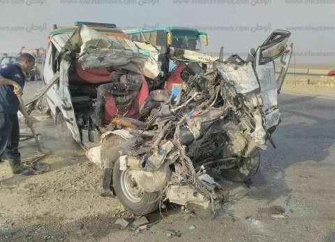 بالأسماء| قتيل و13 مصابا في حادث انقلاب سيارة بصحراوي بني سويف