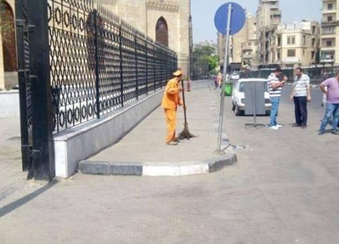 بالصور| تفعيل منظومة النظافة وتطوير الأرصفة بحي وسط القاهرة