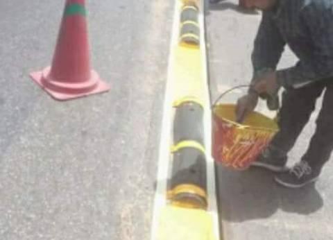 وزير النقل يتفقد أعمال صيانة الدائري بسيارته الخاصة