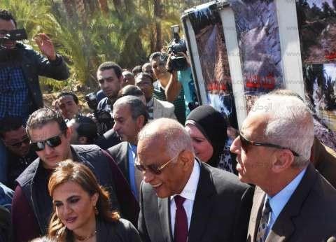 رئيس البرلمان ووزيرة التعاون الدولي يتفقدان مشاريع خدمية وإنتاجية في أسوان