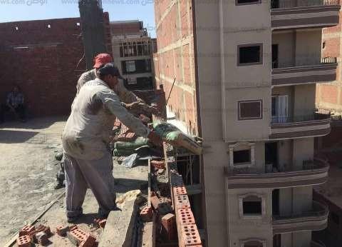 إيقاف أعمال بناء مخالف بـ7 عقارات في الإسكندرية