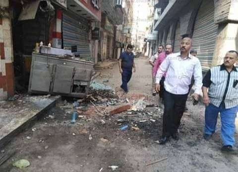 بالصور| انفجار ماسورة غاز يدمر 3 محلات بالمحلة في الغربية