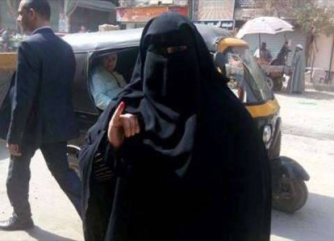 """منتقبة تزغرد احتفالا بالانتخابات داخل اللجنة: """"مصر بتفرح عشانك يا سيسي"""""""