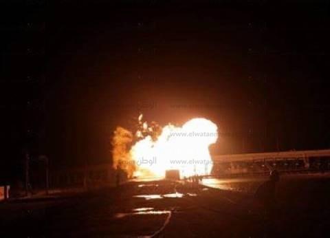 """""""الوطن"""" تنشر مقطع فيديو جديد لانفجار خط الغاز في دمياط"""