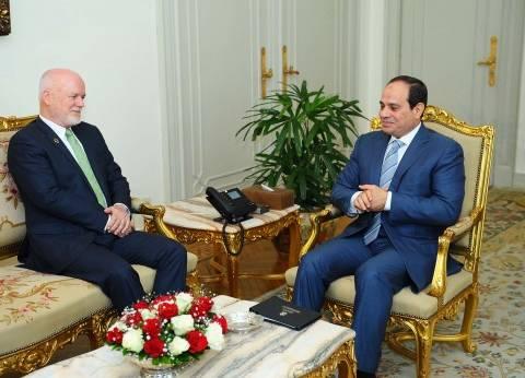 الرئاسة: «السيسى» يعرض على دوائر صنع القرار فى واشنطن رؤية مصر للتعامل مع الأزمات الإقليمية