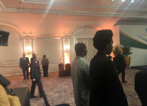 وصول السيسي إلى مقر انعقاد نموذج محاكاة الاتحاد الإفريقي