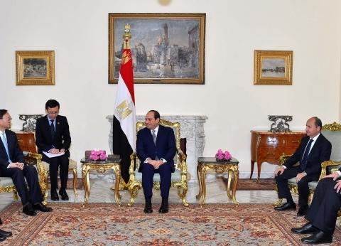 """السيسي يتسلم دعوة من الرئيس الصيني للمشاركة في منتدى """"الحزام والطريق"""""""