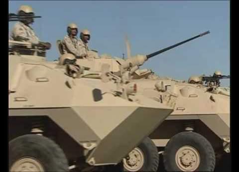 تمشيط الطريق الدائري بالعريش بعد استهداف مدرعة شرطة بعبوة ناسفة