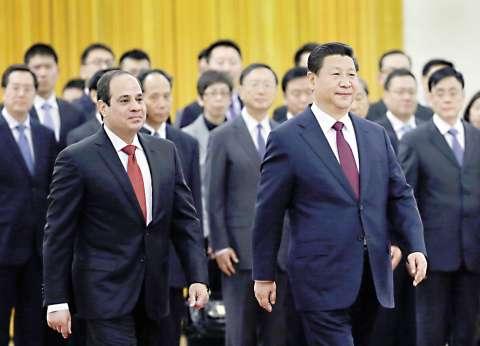 بدء القمة المصرية ـ الصينية في قاعة الشعب في بكين