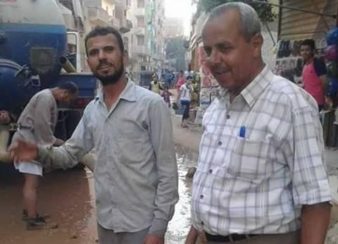 حملة لإزالة الإشغالات من شوارع مدينة المنشأة بسوهاج