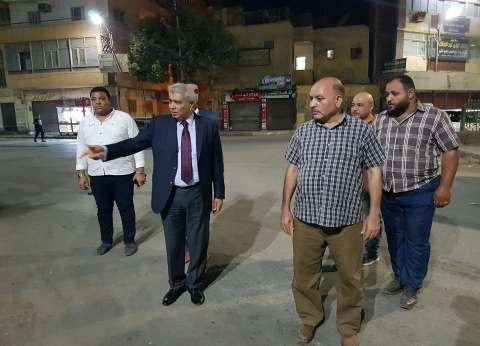 محافظ المنيا يتابع أعمال إزالة الإشغالات والمخالفات بشارع الحسيني