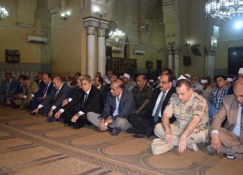 محافظ المنيا يحتفل برأس السنة الهجرية بمسجد سيدي الفولي