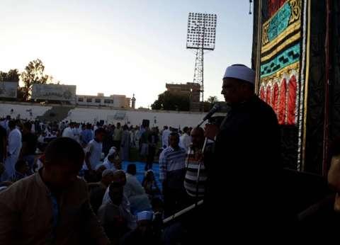 وكيل الأزهر والمحافظ يؤديان صلاة العيد في استاد سوهاج الرياضي