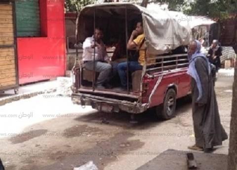 عين شمس: نقل الركاب فى صناديق سيارات «ربع نقل»