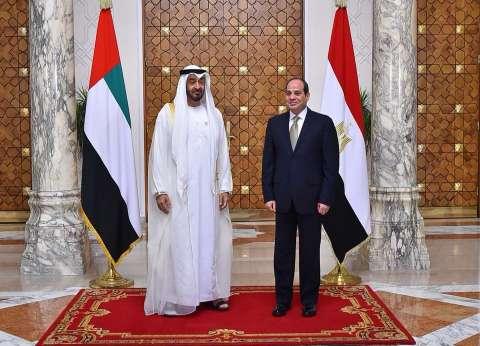 بالصور| صفحة السيسي تنشر تفاصيل استقبال الرئيس ولي عهد أبوظبي