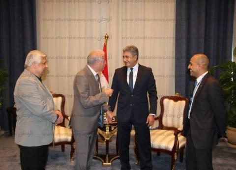 بالصور| محافظ جنوب سيناء يتفقد قاعة مؤتمر أمن الطيران المدني
