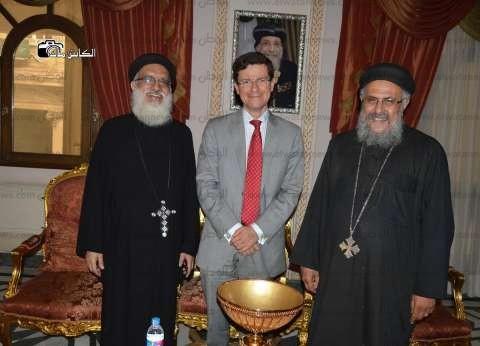 بالصور  قنصل إسبانيا يزور الكاتدرائية المرقسية بالإسكندرية