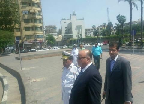 بالصور| جولة ميدانية لمدير أمن القاهرة بوسط العاصمة وكورنيش النيل