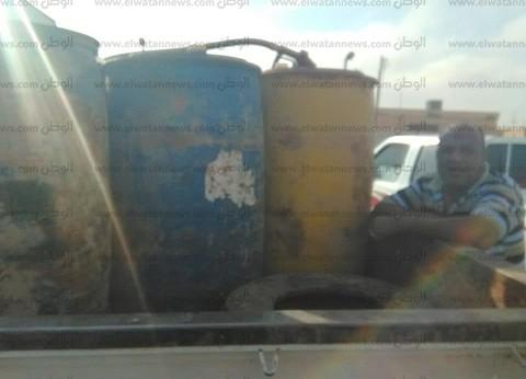 ضبط 627 لتر بنزين و14 محضر في حملة تموينية غرب مطروح